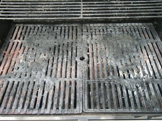 Grill Before Cleaning